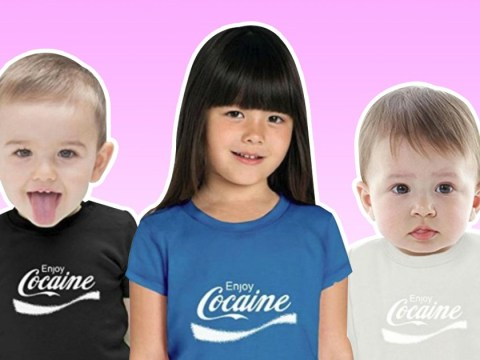 Amazon slammed for selling baby t-shirts that say 'Enjoy Cocaine'