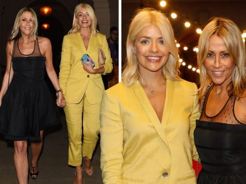 Holly Willoughby holds hands with Nicole Appleton on ultimate BFF night out