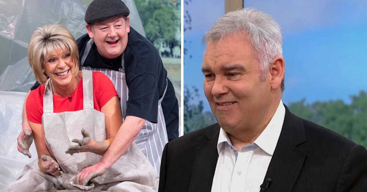Johnny Vegas and Ruth Langsford recreate Ghost's sexy pottery scene to disdain of Eamonn Holmes