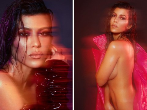Kourtney Kardashian goes naked to promote new makeup line and slays as per usual