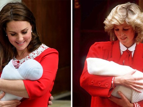 Kate Middleton's red dress is giving us serious Princess Diana vibes