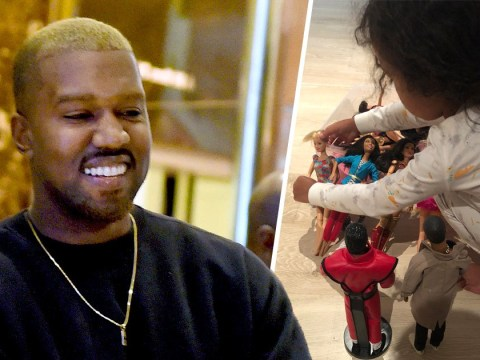 Kanye West posts adorable snap of daughter North playing with Michael Jackson doll