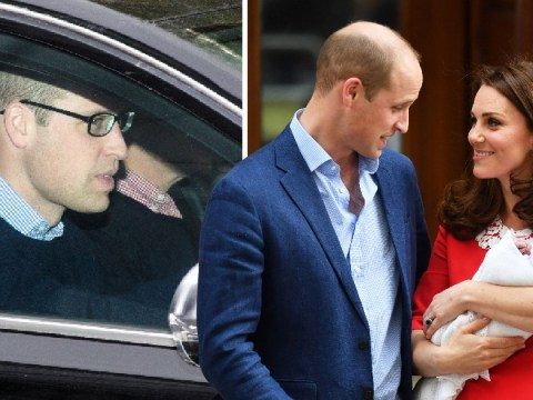 Prince William's five o'clock shadow suggests first night as dad-of-three was a struggle