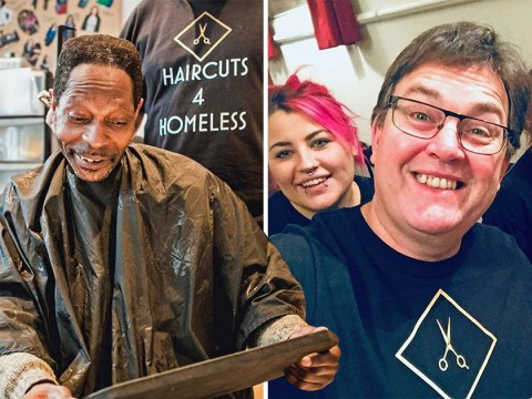 Meet the volunteers giving homeless people back their dignity with free haircuts
