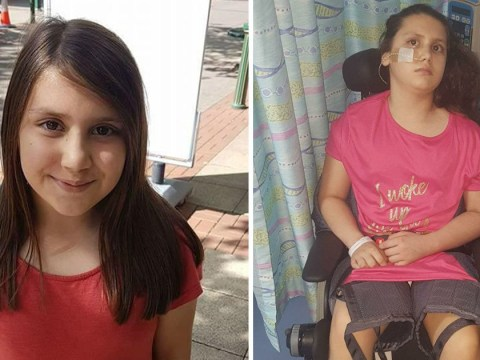 Girl, 10, can't walk, talk or eat after mistaking rare illness for sickness bug