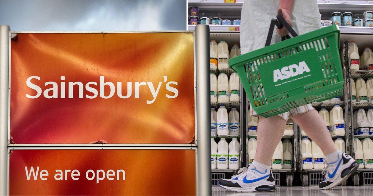Sainsbury's and Asda in £10,000,000,000 supermarket merger talks