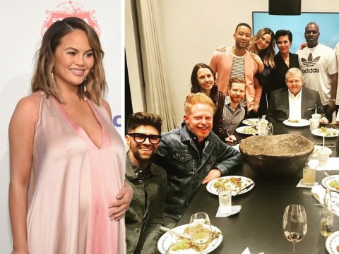Chrissy Teigen reveals she was 'lured' to own baby shower with dinner at Kris Jenner's