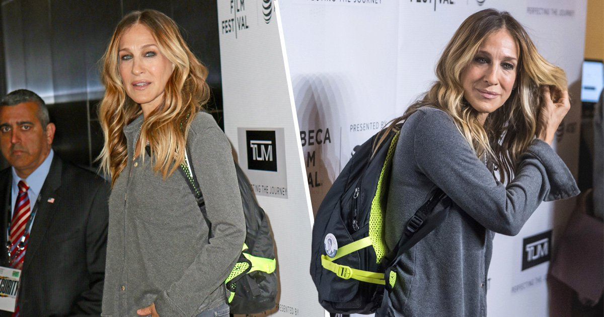 Sarah Jessica Parker looks lost AF as she makes red carpet appearance in backpack and we are confused