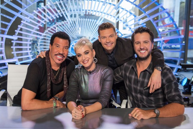 Lionel Richie, Katy Perry, Ryan Seacrest and Luke Bryan on American Idol