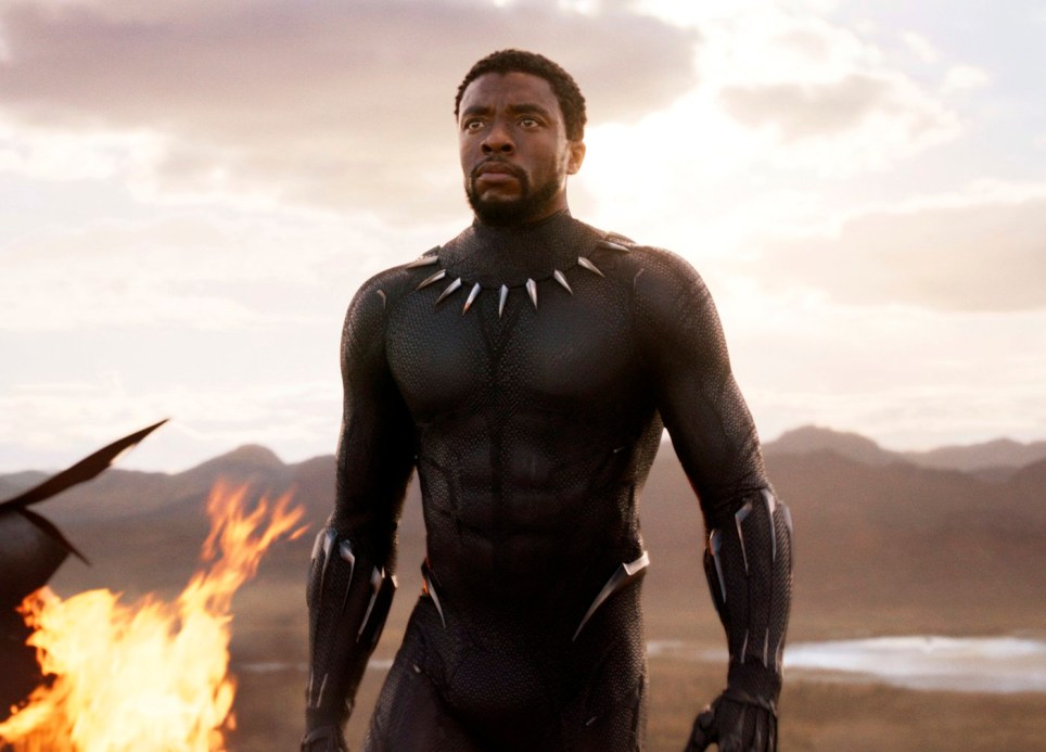 "FILE - This file image released by Disney and Marvel Studios' shows Chadwick Boseman in a scene from ""Black Panther."" ???Black Panther??? has become the first film since 2000???s ???Avatar??? to top the weekend box office five straight weekends. According to studio estimates Sunday, March 18, 2018, ???Black Panther??? grossed $27 million in ticket sales over the weekend, pushing its domestic haul to $605.4 million. (Marvel Studios/Disney via AP, File)"