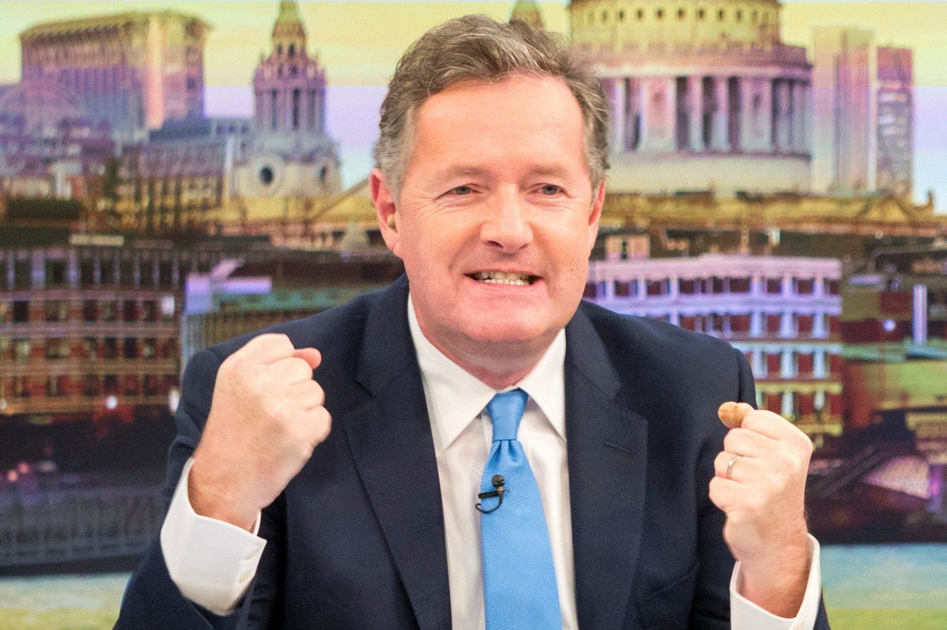 EDITORIAL USE ONLY. NO MERCHANDISING Mandatory Credit: Photo by S Meddle/ITV/REX/Shutterstock (9472235v) Piers Morgan and Susanna Reid 'Good Morning Britain' TV show, London, UK - 21 Mar 2018