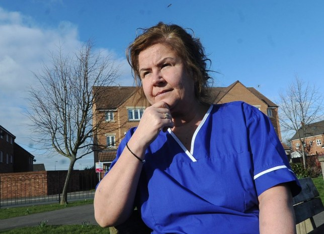 Pinderfields Hospital midwife Jane Greaves who was fired last week in a move union Unison has dubbed ''outrageous''. See Ross Parry story RPYSCAKED; A MIDWIFE sacked for a poor sickness record was last off work with a kidney infection she claims she contracted at Wakefield Pinderfields Hospital???s birth centre which doesn???t have a staff toilet. Jane Greaves, 46, said low staffing levels meant she was unable to leave the unit during 12-hour shifts. Miss Greaves, who has worked at the birth centre at Pinderfields since it opened in September 2016, said she does not go to the toilet at work, adding: ???You just ignore it because you know you have got to leave the unit. You can???t just say to a woman ???stop pushing, I???m going for a wee.???