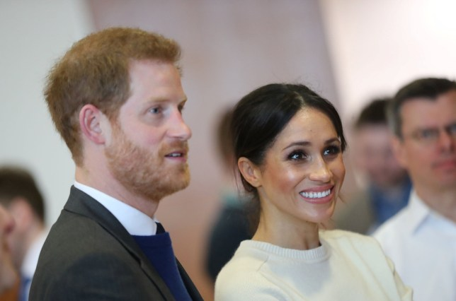 Prince Harry and Meghan Markle visit Catalyst Inc science park in Belfast, Northern Ireland March 23, 2018. Joe Giddens/Pool via REUTERS