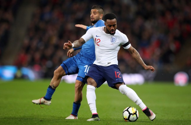 England's Danny Rose (right) and Italy's Lorenzo Insigne battle for the ball during the international friendly match at Wembley Stadium, London. PRESS ASSOCIATION Photo. Picture date: Tuesday March 27, 2018. See PA story SOCCER England. Photo credit should read: Adam Davy/PA Wire. RESTRICTIONS: Use subject to FA restrictions. Editorial use only. Commercial use only with prior written consent of the FA. No editing except cropping.