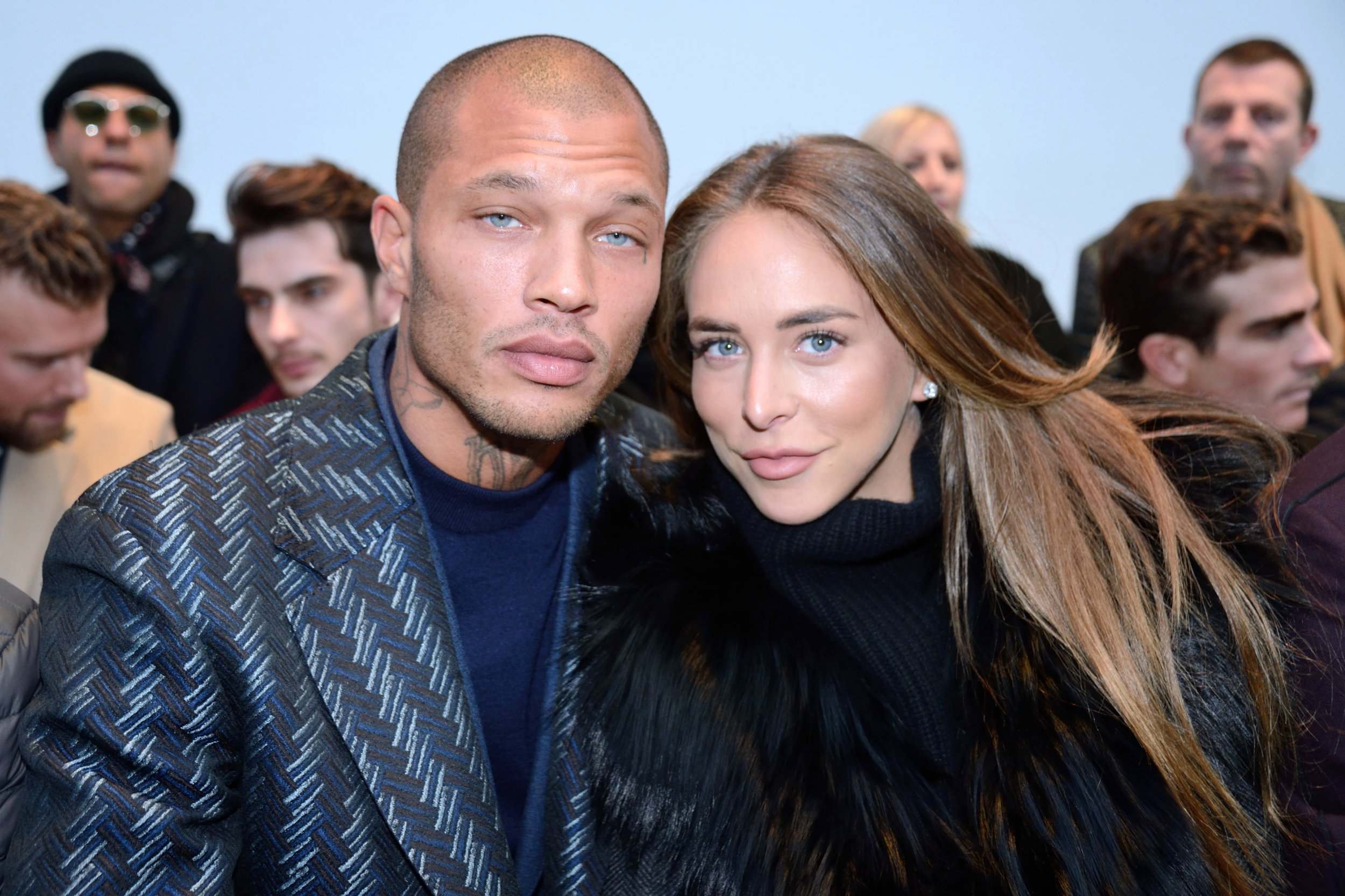 Jeremy Meeks and Chloe Green attending the Cerruti 1881 show as part of Paris Men's Fashion Week Fall/Winter 2018-2019 on January 19, 2018 in Paris, France. Photo by Aurore Marechal/ABACAPRESS.COM