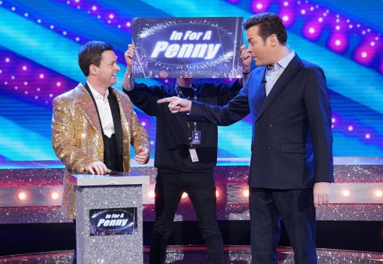 Editorial Use Only. No merchandising Mandatory Credit: Photo by Kieron McCarron/REX/Shutterstock (9485884am) Declan Donnelly and Stephen Mulhern Ant & Dec's Saturday Night Takeaway' TV Show, Series 15, Episode 6, London, UK - 31 Mar 2018