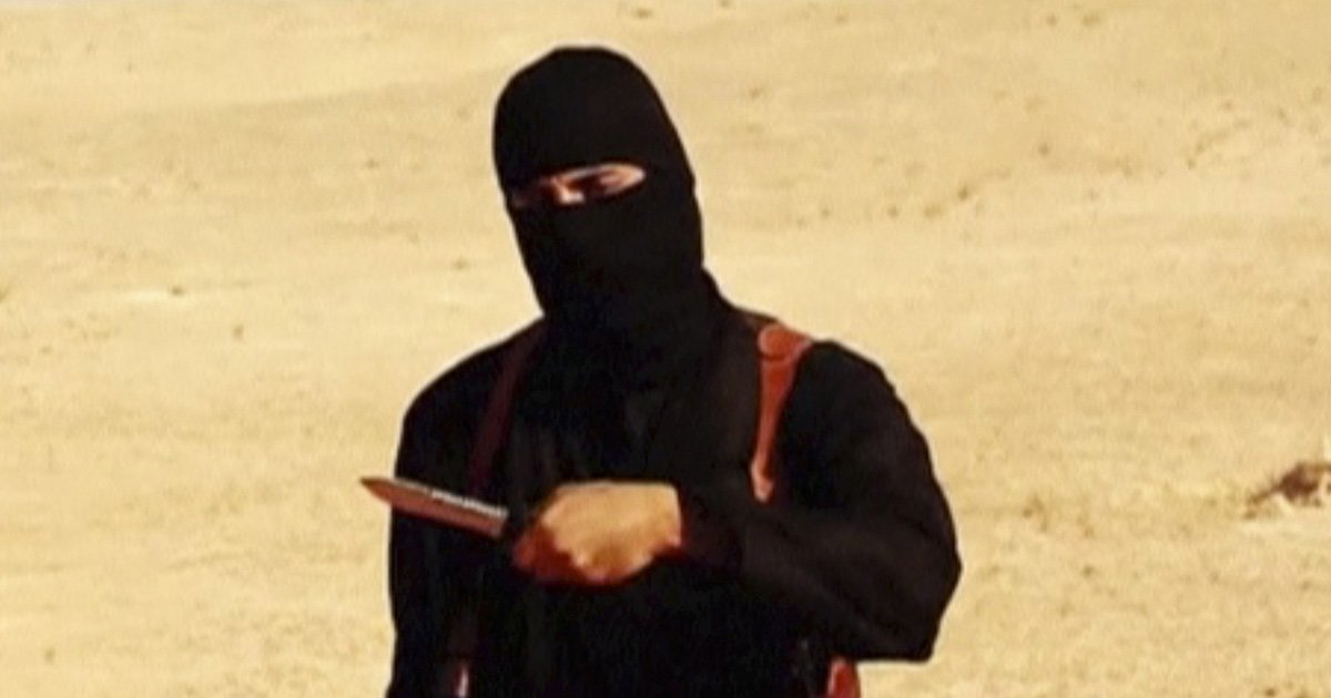 """A masked, black-clad militant, who has been identified by the Washington Post newspaper as a Briton named Mohammed Emwazi, stands next to a man purported to be Steven Sotloff in this still image from a video obtained from SITE Intel Group website February 26, 2015. The """"Jihadi John"""" killer who has featured in several Islamic State beheading videos is Emwazi, a Briton from a middle class family who grew up in London and graduated from college with a degree in computer programming, the Washington Post newspaper said. In videos released by Islamic State (IS), the masked, black-clad militant brandishing a knife and speaking with an English accent appears to have carried out the beheadings of hostages including Americans and Britons. The Washington Post said Emwazi, who used the videos to threaten the West and taunt leaders such as President Barack Obama and British Prime Minister David Cameron, was believed to have travelled to Syria around 2012 and to have later joined IS. British government sources and the police refused to confirm or deny the report, citing a live anti-terrorism investigation, a position mirrored by a spokeswoman for Cameron. REUTERS/SITE Intel Group via Reuters TV (CIVIL UNREST CONFLICT POLITICS SOCIETY) ATTENTION EDITORS - THIS PICTURE WAS PROVIDED BY A THIRD PARTY. REUTERS IS UNABLE TO INDEPENDENTLY VERIFY THE AUTHENTICITY, CONTENT, LOCATION OR DATE OF THIS IMAGE. FOR EDITORIAL USE ONLY. NOT FOR SALE FOR MARKETING OR ADVERTISING CAMPAIGNS. THIS PICTURE IS DISTRIBUTED EXACTLY AS RECEIVED BY REUTERS, AS A SERVICE TO CLIENTS. MANDATORY CREDIT - GM1EB2Q1NF901"""