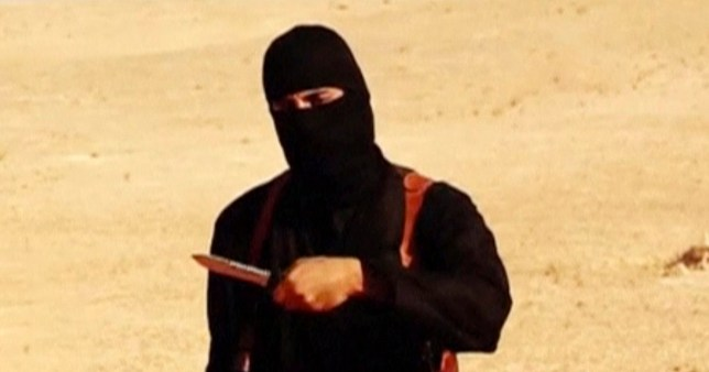 "A masked, black-clad militant, who has been identified by the Washington Post newspaper as a Briton named Mohammed Emwazi, stands next to a man purported to be Steven Sotloff in this still image from a video obtained from SITE Intel Group website February 26, 2015. The ""Jihadi John"" killer who has featured in several Islamic State beheading videos is Emwazi, a Briton from a middle class family who grew up in London and graduated from college with a degree in computer programming, the Washington Post newspaper said. In videos released by Islamic State (IS), the masked, black-clad militant brandishing a knife and speaking with an English accent appears to have carried out the beheadings of hostages including Americans and Britons. The Washington Post said Emwazi, who used the videos to threaten the West and taunt leaders such as President Barack Obama and British Prime Minister David Cameron, was believed to have travelled to Syria around 2012 and to have later joined IS. British government sources and the police refused to confirm or deny the report, citing a live anti-terrorism investigation, a position mirrored by a spokeswoman for Cameron. REUTERS/SITE Intel Group via Reuters TV (CIVIL UNREST CONFLICT POLITICS SOCIETY) ATTENTION EDITORS - THIS PICTURE WAS PROVIDED BY A THIRD PARTY. REUTERS IS UNABLE TO INDEPENDENTLY VERIFY THE AUTHENTICITY, CONTENT, LOCATION OR DATE OF THIS IMAGE. FOR EDITORIAL USE ONLY. NOT FOR SALE FOR MARKETING OR ADVERTISING CAMPAIGNS. THIS PICTURE IS DISTRIBUTED EXACTLY AS RECEIVED BY REUTERS, AS A SERVICE TO CLIENTS. MANDATORY CREDIT - GM1EB2Q1NF901"