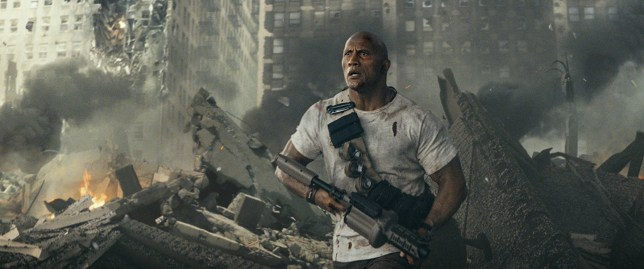 Dwayne 'The Rock' Johnson in Rampage (Picture: Warner Bros.)