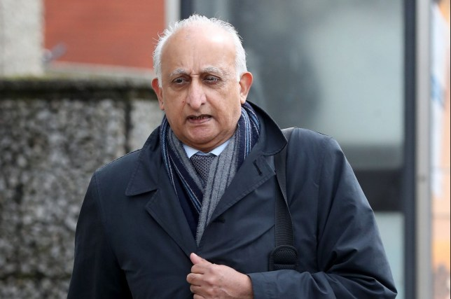 Ajaz Karim arrives at Brighton Crown Court, where he is accused of nine charges of indecent assault and one attempted indecent assault against six female pupils at Christ's Hospital School in Horsham, West Sussex. PRESS ASSOCIATION Photo. Picture date: Tuesday April 3, 2018. See PA story COURTS Karim. Photo credit should read: Gareth Fuller/PA Wire