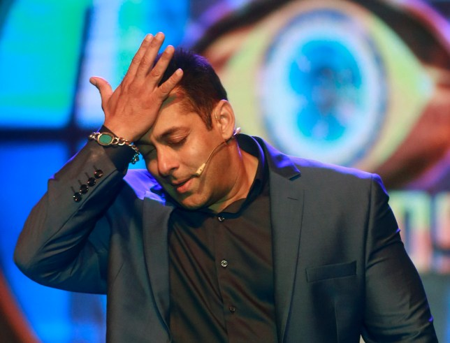 FILE- In this Sept. 28, 2015 file photo, Bollywood actor Salman Khan performs during a news conference to announce the ninth season of reality television show 'Big Boss' in Mumbai, India. Khan has been convicted in a 20-year-old poaching case and could face up to six years in prison. He was convicted of shooting two rare blackbuck deer in a western India wildlife preserve in 1998. (AP Photo/Rafiq Maqbool, File)