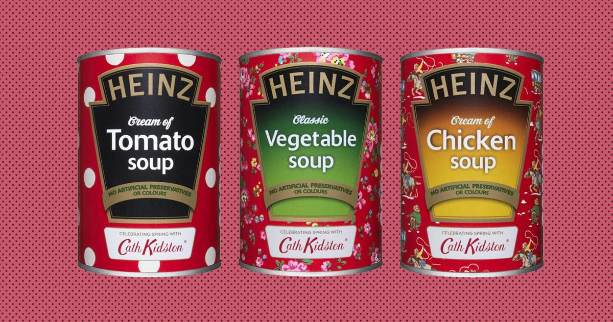 Heinz Tomato Soup gets a redesign for the first time Picture: Heinz/Cath Kidston METROGRAB