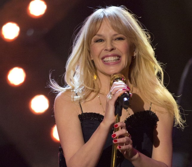 Kylie Minogue performing during filming for the Graham Norton Show at BBC Studioworks in London, to be aired on BBC One on Friday. PRESS ASSOCIATION. Picture date: Thursday April 5, 2018. Photo credit should read: PA Images on behalf of So TV