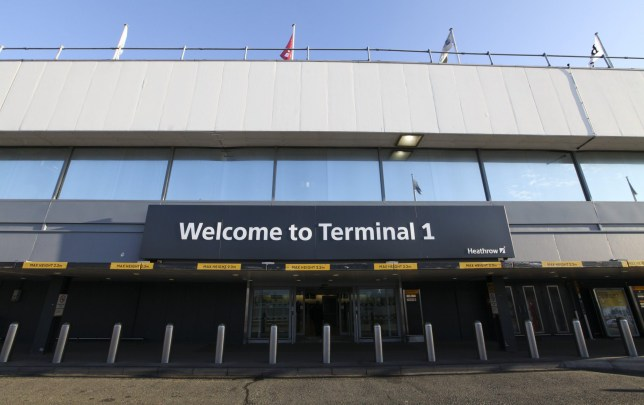 Mandatory Credit: Photo by REX/Shutterstock (1886890p) The entrance to terminal 1 is seen at London Heathrow Airport, England, Britain London Heathrow Airport, Britain - 12 Jan 2012