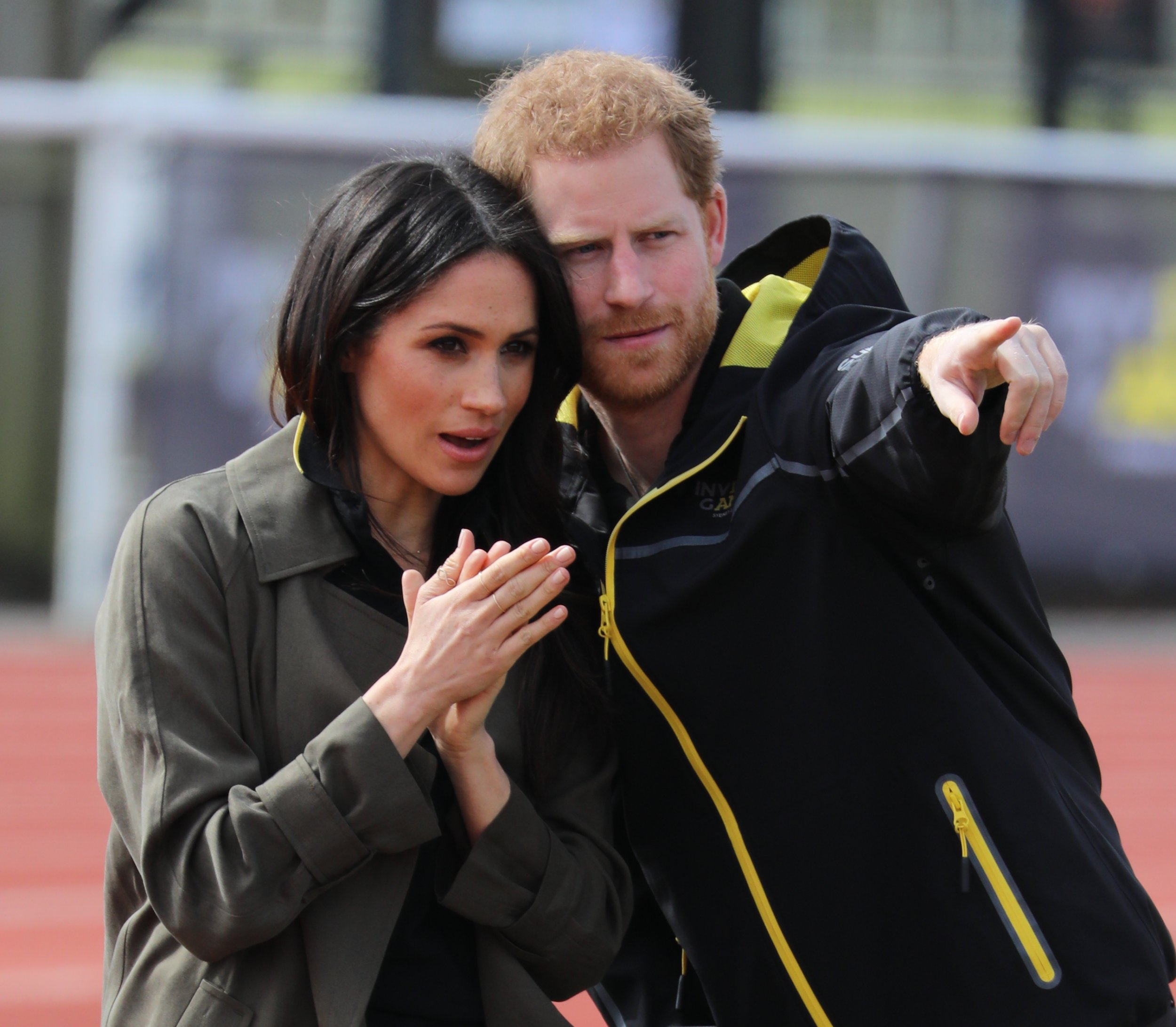 Prince Harry and Meghan Markle attend the UK team trials for the 2018 Invictus games in Sydney this October at University of Bath Sports Training Village. Featuring: Prince Harry, Meghan Markle Where: Bath, United Kingdom When: 06 Apr 2018 Credit: David Sims/WENN.com