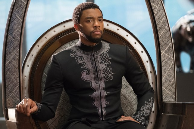 "No Merchandising. Editorial Use Only. No Book Cover Usage Mandatory Credit: Photo by Marvel/Disney/Kobal/REX/Shutterstock (9360960bx) Chadwick Boseman ""Black Panther"" Film - 2018"