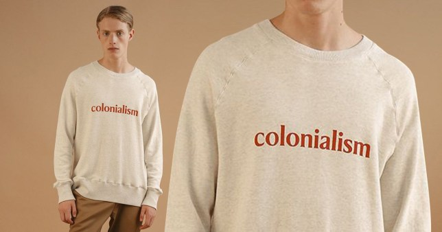 METROGRAB - TAKEN WITHOUT PERMISSION Big Uncle SS18 Collection Colonialism sweater Credit: Big Uncle