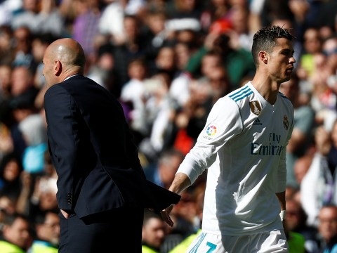 Zinedine Zidane insists Cristiano Ronaldo needed a rest after substitution during Madrid derby