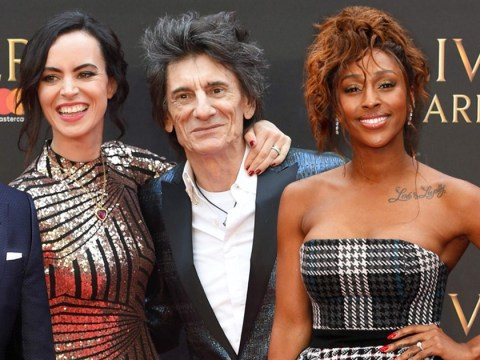 Ronnie Wood, Alexandra Burke and Cuba Gooding Jr descend on the Olivier Awards