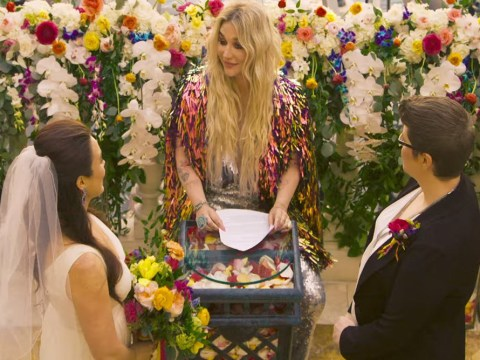 Kesha does an Adele as she officiates lesbian wedding in new music video