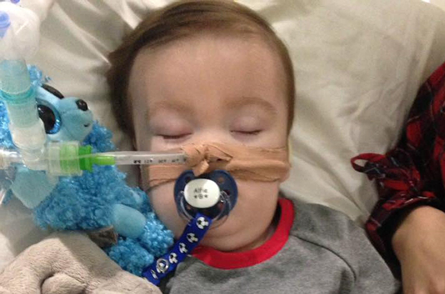 Undated family handout file photo taken with with permission from the Alfies Army Official facebook page of brain-damaged boy Alfie Evans, as his parents Tom Evans and Kate James are at the centre of a life-support treatment battle.The couple who are in their 20s and from Liverpool, have lost fights over their son Alfie Evans in the High Court, Court of Appeal, Supreme Court and European Court of Human Rights and are seeking to overturn a series of rulings and want their child treated in Germany or Rome. PRESS ASSOCIATION Photo. Issue date: Wednesday April 11, 2018. See PA story COURTS Alfie. Photo credit should read: Alfies Army Official/PA Wire NOTE TO EDITORS: This handout photo may only be used in for editorial reporting purposes for the contemporaneous illustration of events, things or the people in the image or facts mentioned in the caption. Reuse of the picture may require further permission from the copyright holder.