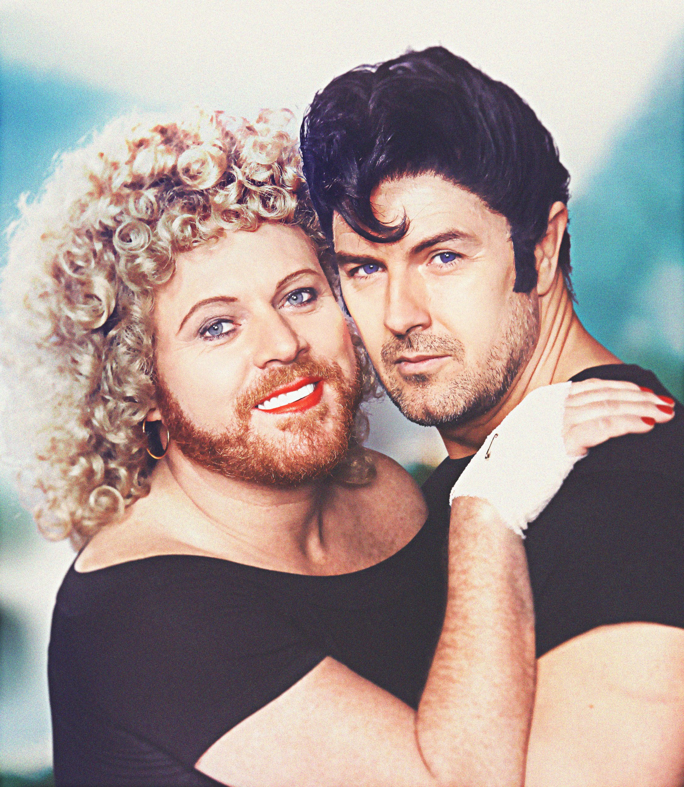 From Talkback The Keith and Paddy Picture Show: SR2: Ep1: Grease on ITV Pictured: Sandy [Keith Lemon] and Danny [Paddy McGuinness]. This photograph is (C) Talkback and can only be reproduced for editorial purposes directly in connection with the programme or event mentioned above. Once made available by ITV plc Picture Desk, this photograph can be reproduced once only up until the transmission [TX] date and no reproduction fee will be charged. Any subsequent usage may incur a fee. This photograph must not be manipulated [excluding basic cropping] in a manner which alters the visual appearance of the person photographed deemed detrimental or inappropriate by ITV plc Picture Desk. This photograph must not be syndicated to any other company, publication or website, or permanently archived, without the express written permission of ITV Plc Picture Desk. Full Terms and conditions are available on the website www.itvpictures.com For further information please contact: james.hilder@itv.com / 0207 157 3052