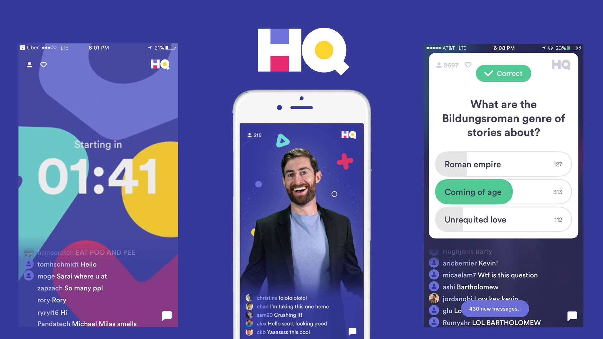 What is the HQ Trivia app and how does it make money?