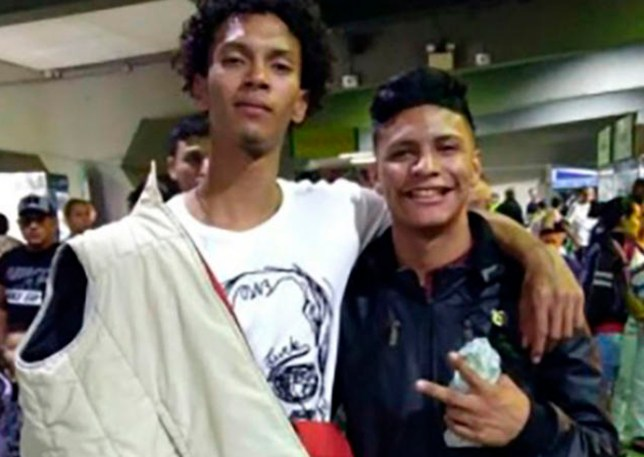 """Pic shows: Kevin Gil and Carlos Jair Balanta Two young men have died in a horrific accident after one of them fell into the sea while taking a selfie and the other jumped in to try and save his friend. The two young men had decided to take a photo of themselves when they stopped at the seaside town of Arica, in the Chilean province of the same name. According to reports, 22-year-old Carlos Jair Balanta and his 19-year-old friend Kevin Andres Gil Campo had been travelling from the Colombian city of Cali to the Chilean capital of Santiago to start a new life. The two young Colombians had stopped off in Arica in northern Chile when they took the photo close to the sea. Local media are reporting that one of the youngsters slipped when taking a selfie and fell into the choppy waves. The other young Colombian then reportedly jumped into the sea to help his friend. Neither of the two managed to get out of the sea and both youngsters reportedly drowned in the accident. Their bodies were found four days later after an exhaustive search by coast guards, according to reports. Campo???s aunt, Araceli Restrepo, told reporters: """"They were travelling to find their fortune, as is the dream of anyone who travels to anther country, to look for decent work. """"They were young, studying, they had finished their college and were studying something more technical."""" Campo???s body will be returned to his hometown of Cali whilst Balanta???s remains will stay in Chile as his mother lives in the country."""