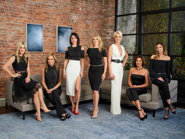 THE REAL HOUSEWIVES OF NEW YORK CITY -- Season:9 -- Pictured: (l-r) Tinsley Mortimer, Sonja Morgan, Bethenny Frankel, Ramona Singer, Dorinda Medley, Luann de Lesseps, Carole Radziwill -- (Photo by: Patrick Ecclesine/Bravo)