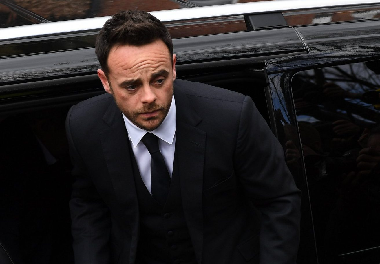 Ant McPartlin looks solemn as he heads to court to face drink driving charge