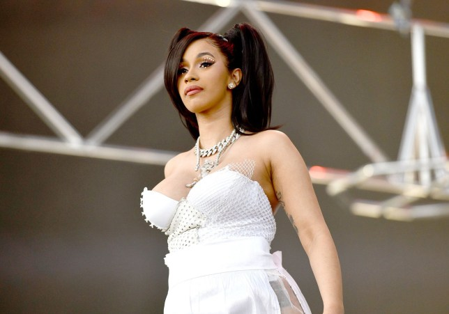 INDIO, CA - APRIL 15: Rapper Cardi B performs on the Coachella stage during week 1, day 3 of the Coachella Valley Music and Arts Festival on April 15, 2018 in Indio, California. (Photo by Scott Dudelson/Getty Images for Coachella)