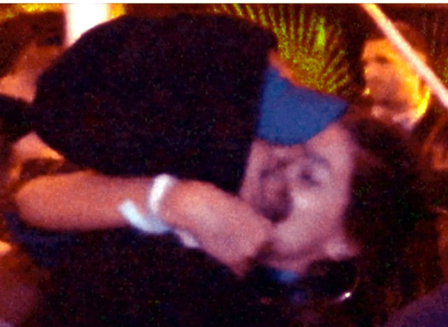 EXCLUSIVE: Leonardo DiCaprio gets many hugs and a kiss from his new girlfriend as she showed much affection moments before the Eminem performance at Coachella. Camila Morrone (20) was having a blast with Leo as they stood with friends next to the VIP cash bar and then later held each other and squeezed their way through a pipe structure all while holding each other close and then made their way to the lawn to watch the big show of the final night of Coachella. Pictured: Leonardo DiCaprio, Camila Morrone Ref: SPL1683590 160418 EXCLUSIVE Picture by: Splash News Splash News and Pictures Los Angeles: 310-821-2666 New York: 212-619-2666 London: 870-934-2666 photodesk@splashnews.com