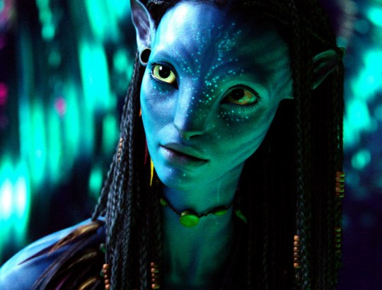 No Merchandising. Editorial Use Only. No Book Cover Usage. Mandatory Credit: Photo by Twentieth Century-Fox Film Corporation/Kobal/REX/Shutterstock (5885988aq) Zoe Saldana Avatar - 2009 Director: James Cameron Twentieth Century-Fox Film Corporation USA Scene Still