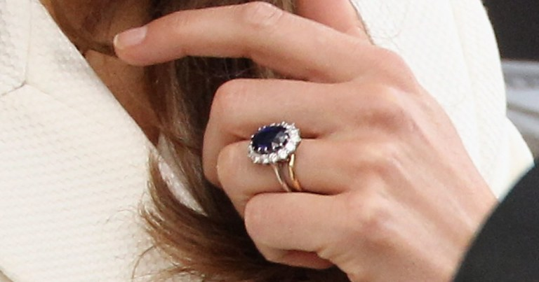 Kate Middleton and Meghan Markle engagement ring and wedding