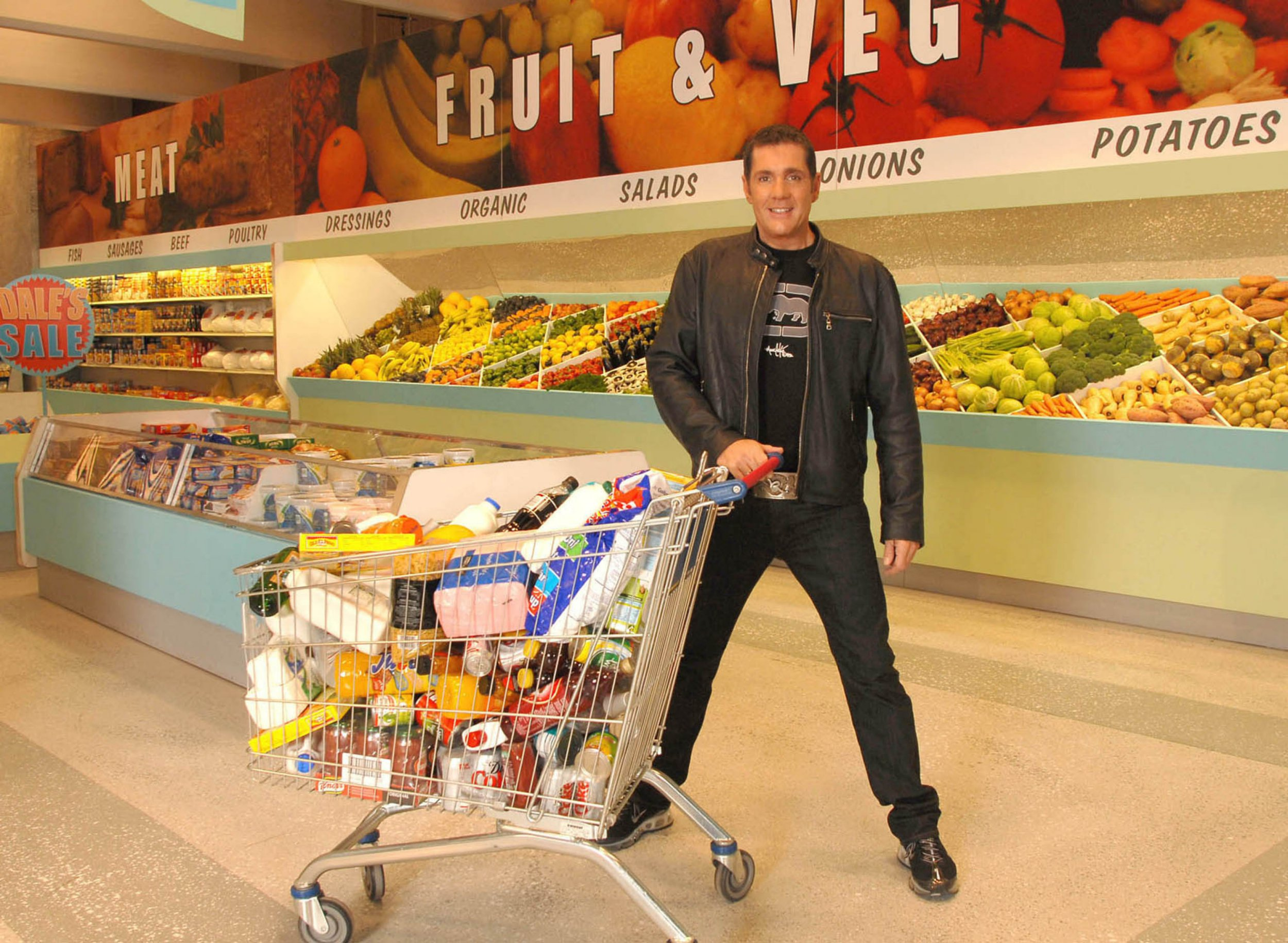 Editorial Use Only / No Merchandising Mandatory Credit: Photo by FremantleMedia Ltd/REX/Shutterstock (854604ku) 'Dales Supermarket Sweep' - Dale Winton Thames TV Archive