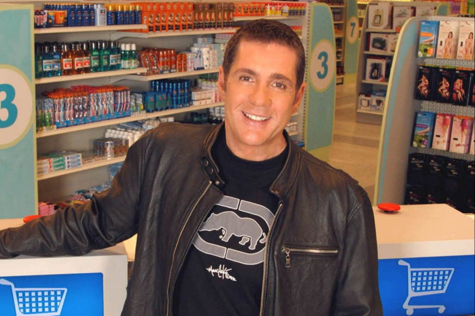 Dale Winton age and Nell McAndrew wedding as Supermarket