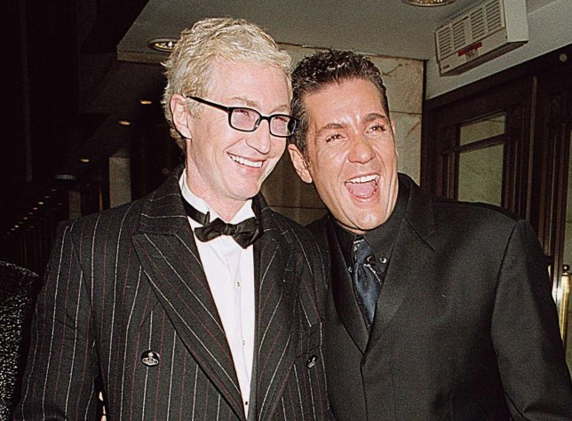 Mandatory Credit: Photo by Nikos Vinieratos/REX/Shutterstock (373781k) PAUL O'GRADY (AKA LILY SAVAGE) WITH DALE WINTON OUTSIDE THE ROYAL VARIETY PERFORMANCE AFTER SHOW PARTY STARS IN LONDON, BRITAIN - 2001