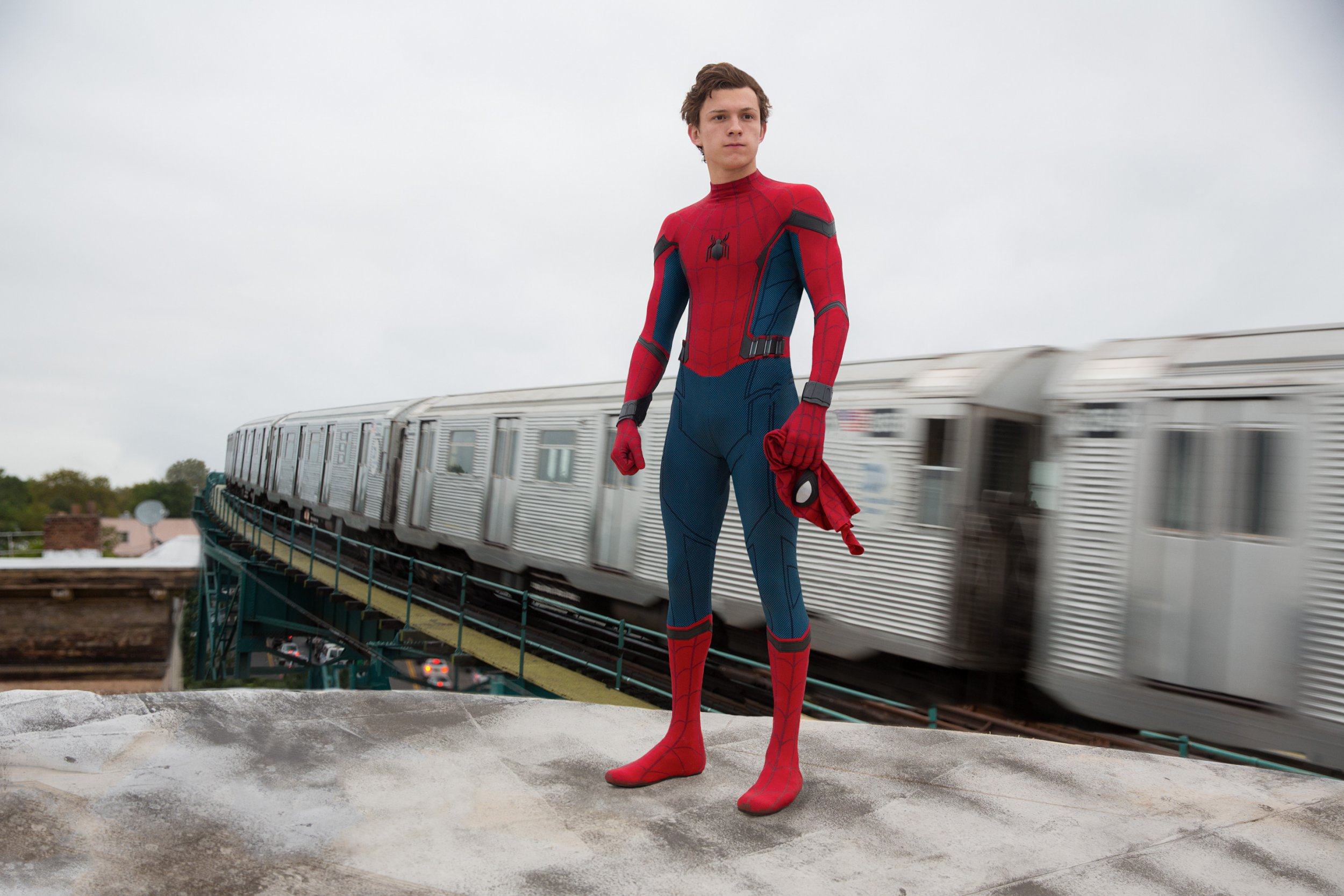 No Merchandising. Editorial Use Only. No Book Cover Usage Mandatory Credit: Photo by Chuck Zlotnick/Columbia/Kobal/REX/Shutterstock (8947304b) Tom Holland Spider-Man : Homecoming Film - 2017