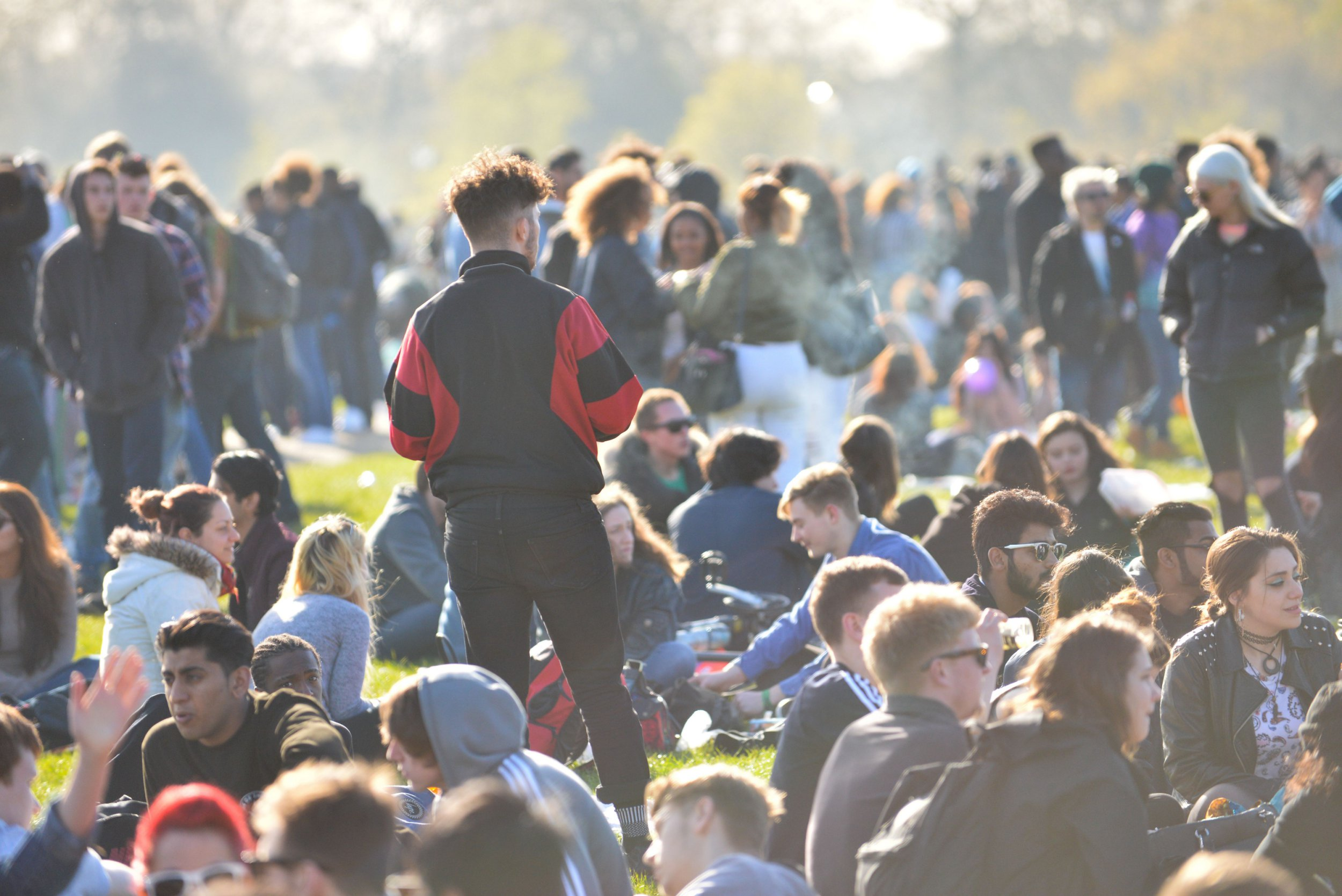 Mandatory Credit: Photo by Matthew Chattle/REX/Shutterstock (5658334c) General view of the '4/20' demonstration in Hyde Park 420 Day Rally, London, Britain - 20 Apr 2016