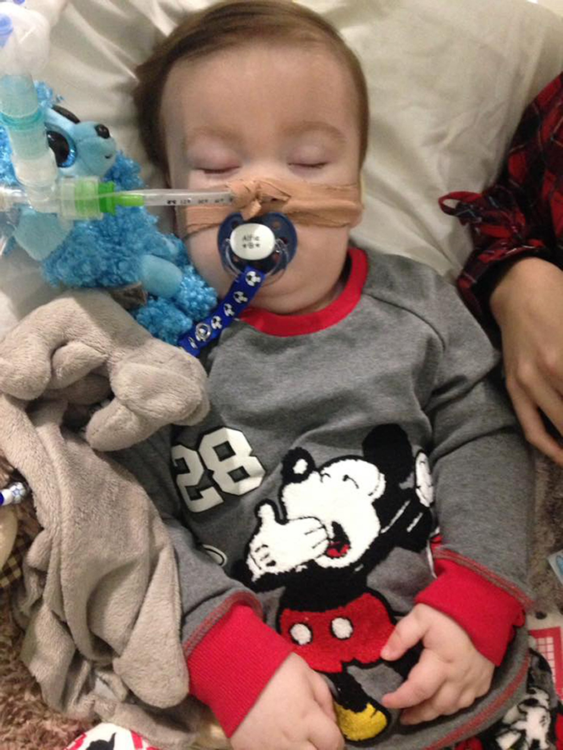 Undated family handout file photo taken with permission from the Alfies Army Official facebook page of brain-damaged boy Alfie Evans, his parents, Tom Evans and Kate James, who have been at the centre of a life-support treatment battle have lost the latest round of their legal fight after failing to persuade Supreme Court justices to consider their case for a second time. PRESS ASSOCIATION Photo. Issue date: Friday April 20, 2018. Tom Evans and Kate James, who are both in their early twenties, had made another application to the Supreme Court after losing a second fight over Alfie Evans at the Court of Appeal. See PA story COURTS Alfie. Photo credit should read: Alfies Army/Facebook/PA Wire NOTE TO EDITORS: This handout photo may only be used in for editorial reporting purposes for the contemporaneous illustration of events, things or the people in the image or facts mentioned in the caption. Reuse of the picture may require further permission from the copyright holder.